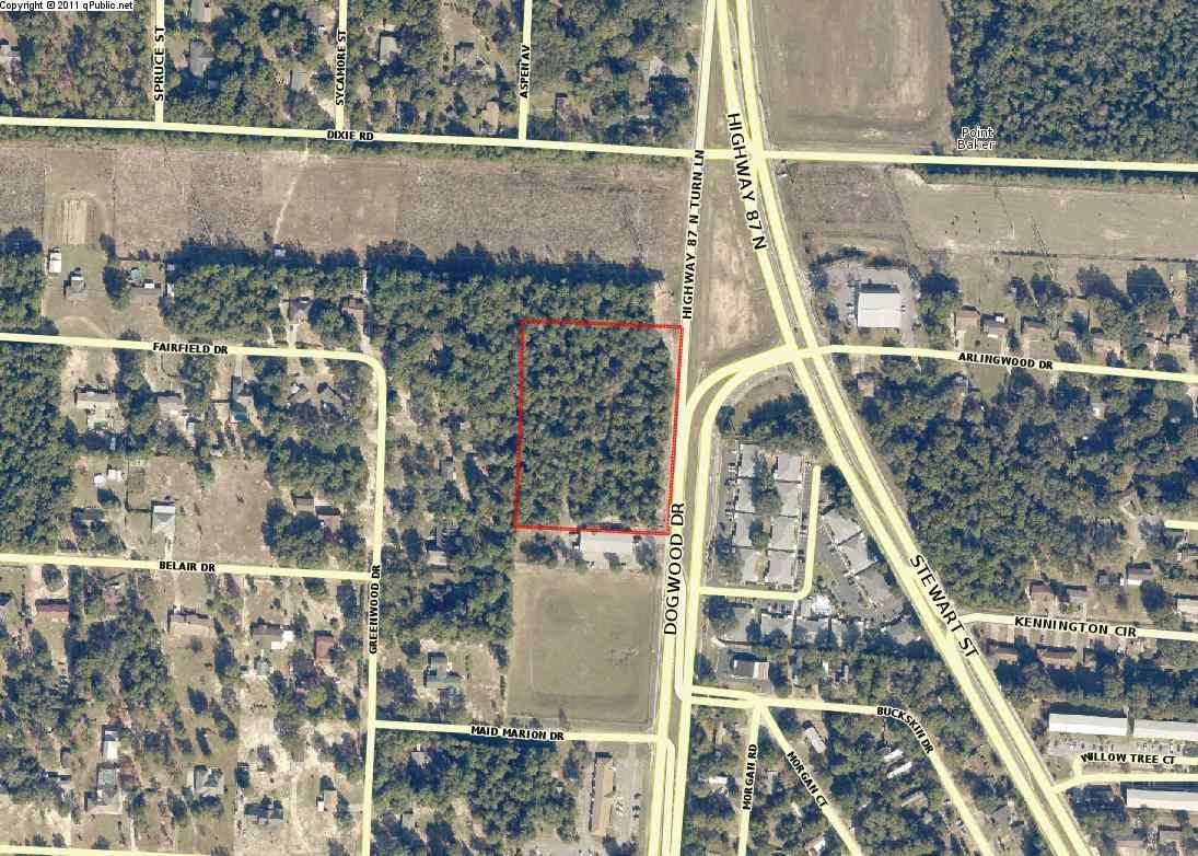 Prime Hwy 87 acreage available in Milton, Florida. There is a total of +/- 4.3 acres of commercial land available and the owner would consider subdividing the property into 5 separate lots. The 4.3 acres is available for $275,000 or the individual lots can be purchased for $59,500/lot. The site has a total of 500 feet of frontage on Hwy 87 and +/- 370'-380' deep. The commercial acreage would be the ideal location for a restaurant, retail, or local business with it's excellent visibility and being within close proximity to the NAS Whiting Field military base, downtown Milton, and Pace.
