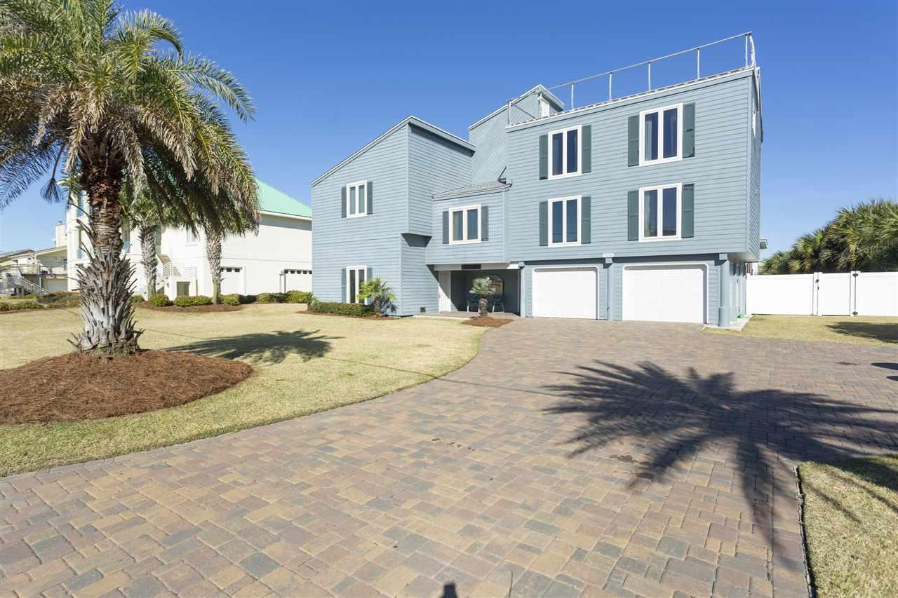 This Wonderfully Remodeled, Extremely Large Beach home has stunning waterway views. The rooftop deck of this house offers 360 degree Panoramic view of the island that includes the Gulf of Mexico and Santa Rosa Sound. (See the Virtual tour) Perfect for watching the Blues Fly or the Dolphins jump in the mornings. This home Features 3 Master Suites (Try to find that in the other homes) The light and bright interior of this home includes stainless steel appliances, travertine tile, granite counter tops, and maple cabinetry. The exterior of the home host a Hardy Board exterior, A very large fenced-in backyard nestles one of the larger pools on the Beach, The tropical landscaping makes you feel like you are in an Exclusive Resort, and a two car g