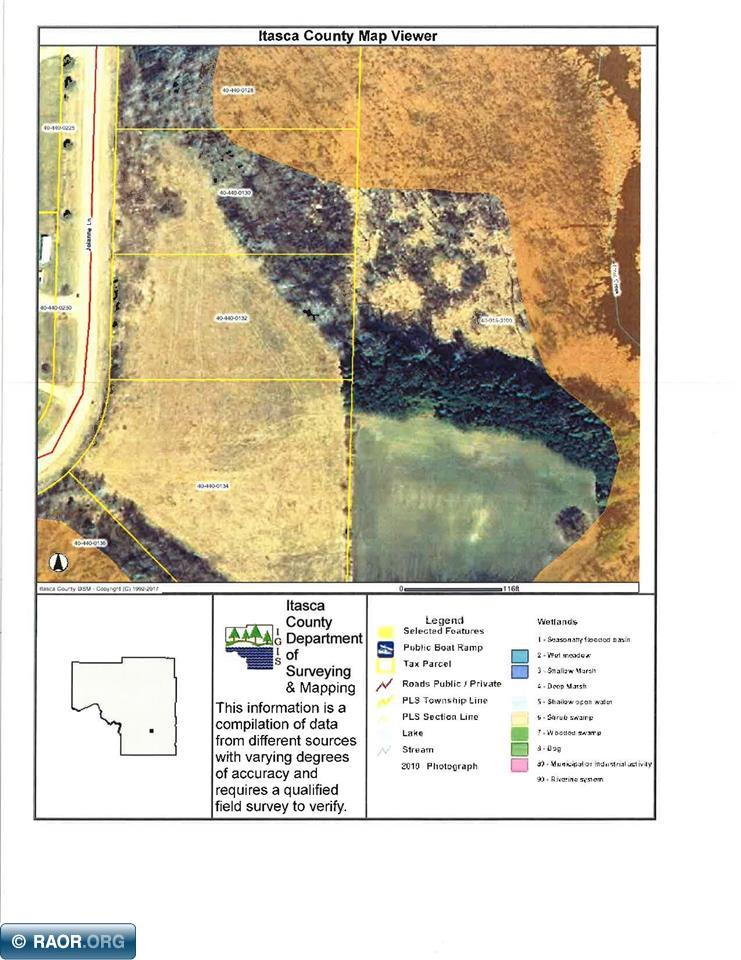 Raw Land For Sale In Northeastern Minnesota: Itasca County Plat Map At Slyspyder.com