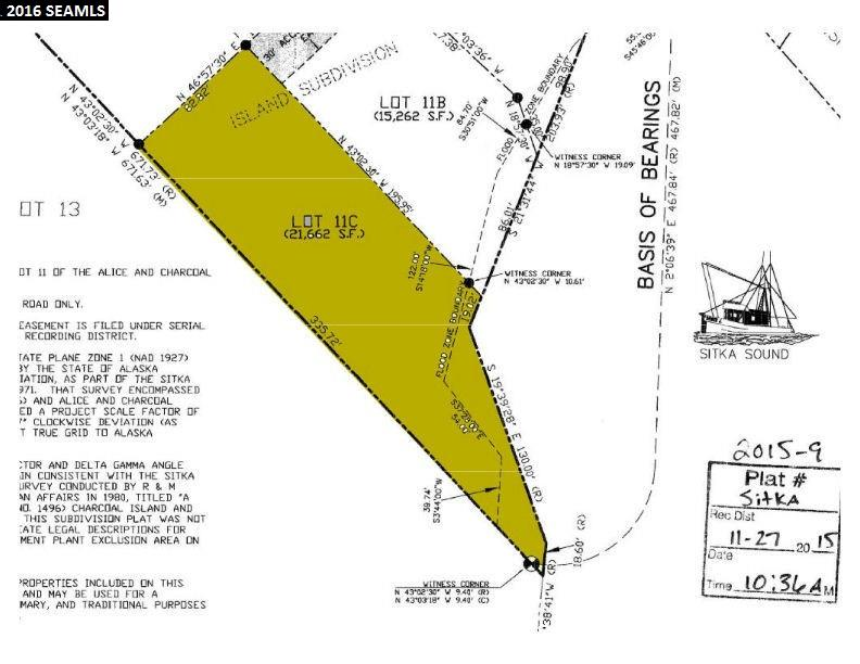 Lot 11C Legal Address Only, Sitka, AK 99835