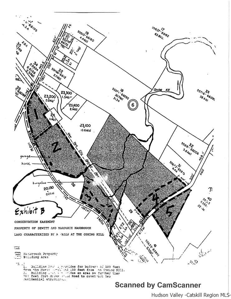 Parcel 4: can be subdivided into 2 parcels..one dwelling each. Parcel 5 /one dwelling.