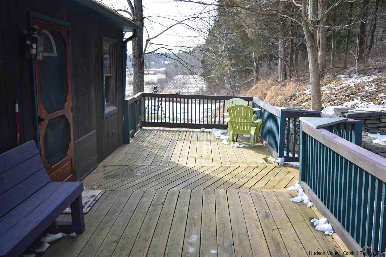 Deck and entrance to accessory apartment.