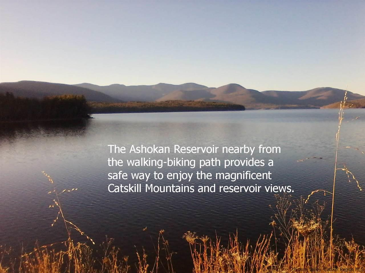 Enjoy the miles of pathway for walking and biking only along the Ashokan Reservoir dike nearby.