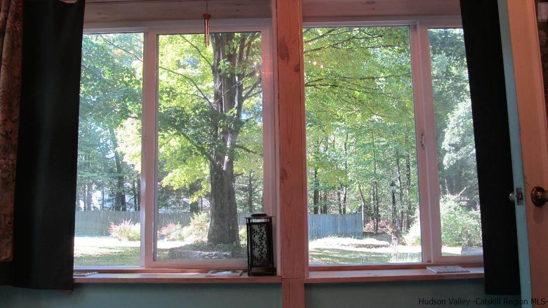 Serene views from each window.