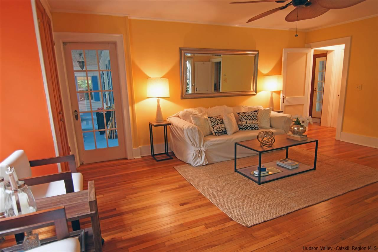 This Den has its own entrance and private bath.  This room can also serve as a master bedroom suite.