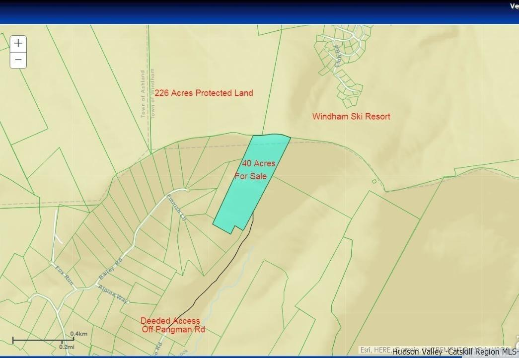 Property borders Dep land and land owned by the Windham Ski Resort.