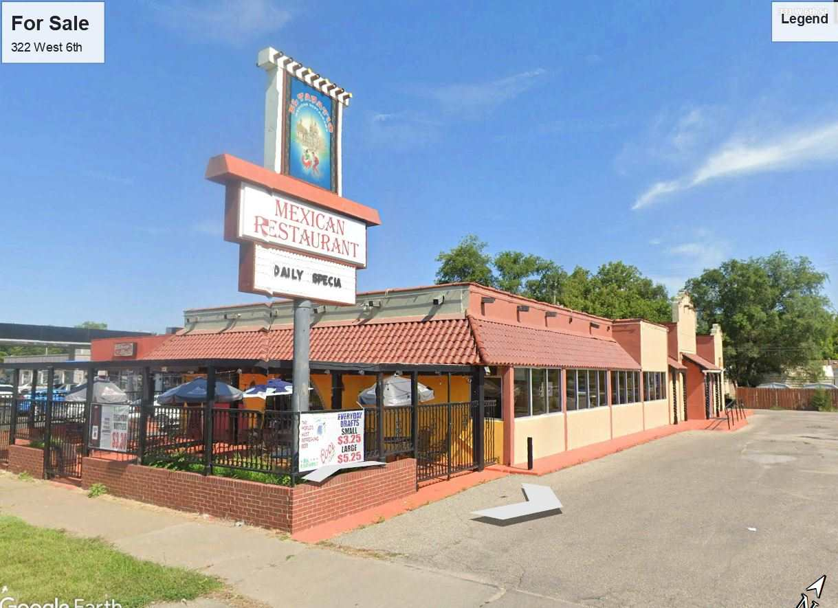 Restaurant building located on West 6th.  Includes additional parking lots behind on West 7th Street.  Property is occupied by restaurant on NNN lease ending November 30, 2021.  Tenant is not renewing.