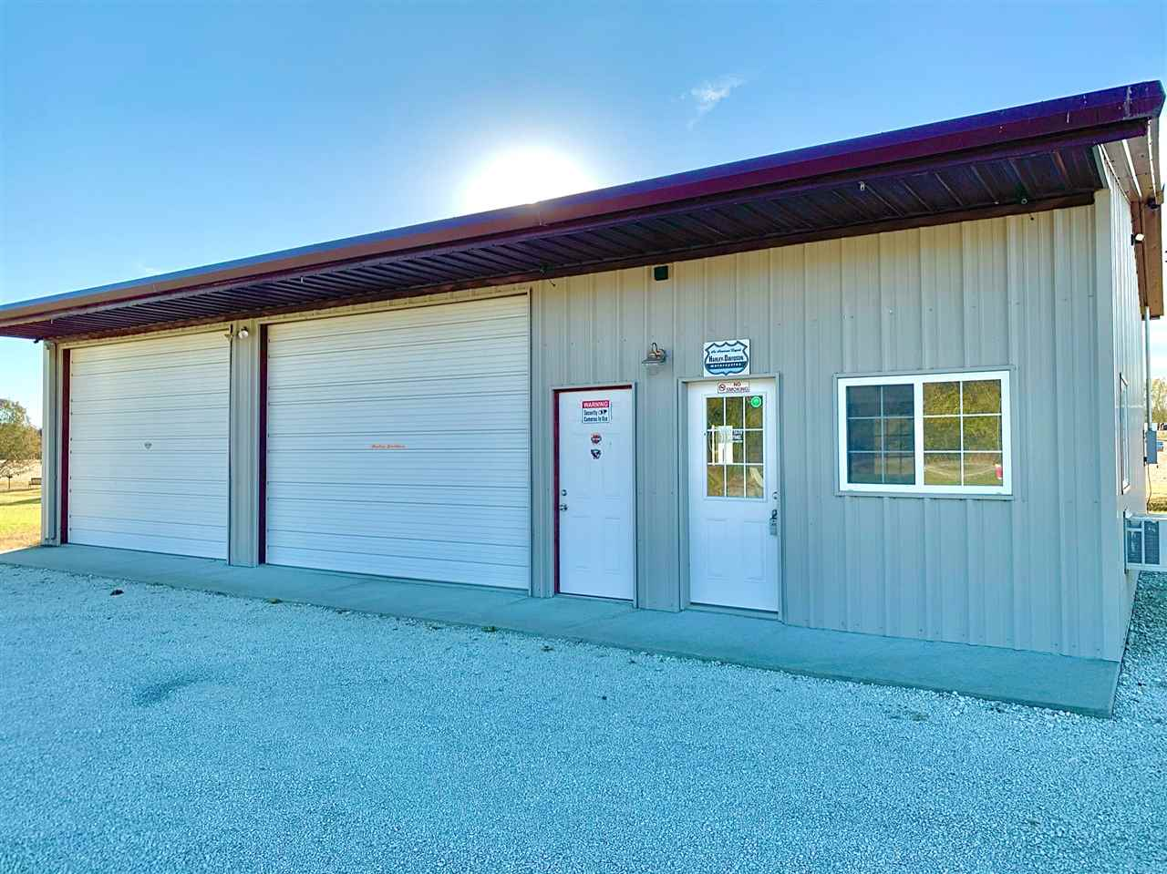 - Great investment for business  - Good visibility and access as it is located on Highway 99 - Located in growing community  - Two overhead doors for easy access - One office, one restroom, and small waiting space - Steel frame, insulated, and finished concrete floor - 30' x 36' shop - 12' x 30' office & bathroom  Call Brice at 785.410.7095 to schedule a showing!