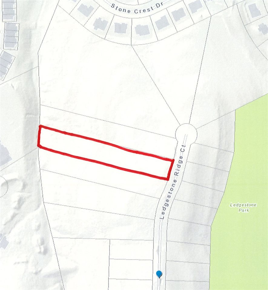 Fantastic opportunity to build the home of your dreams, in the popular Ledge Stone Ridge subdivision, Lot accommodates walk-out plan and offers fantastic views. Great location off Scenic Drive & Miller Parkway, convenient to parks and nature trails.