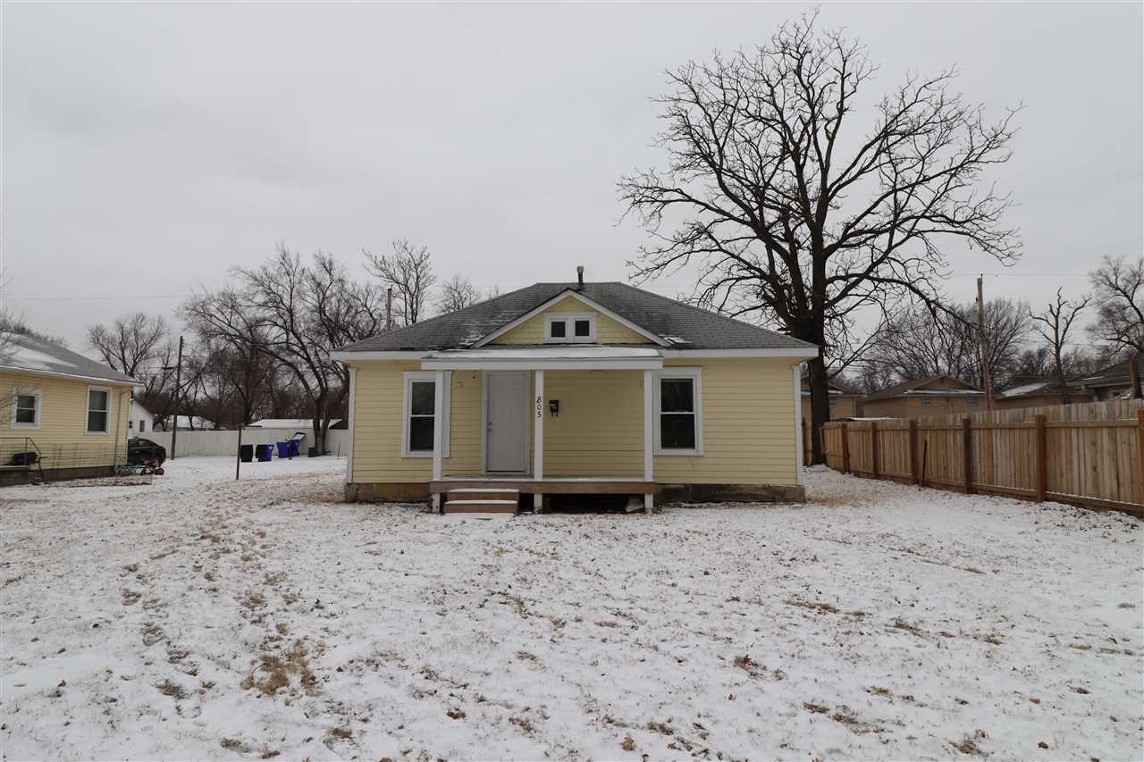 This bungalow offers good amount of living space for the price. There are two bedrooms and 1 bath. Front porch and stairs have recently been updated. Home sits on a lot and a half. Off street parking available.