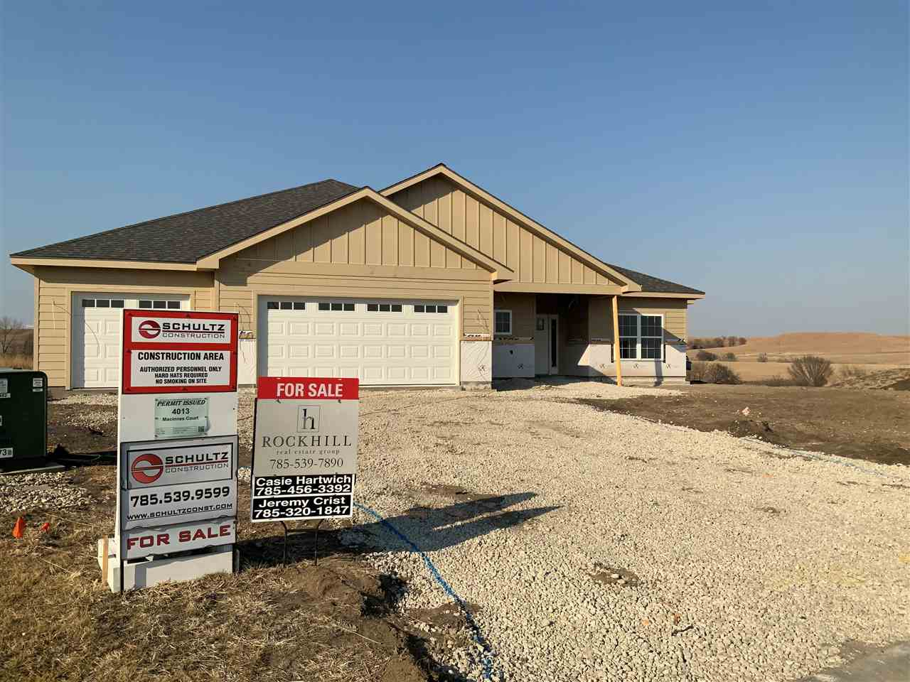 Located in USD 383, this brand new construction offers incredible finishes and craftsmanship. Built by Schultz Construction, this single family residence provides 3 bedrooms, 2 full bathrooms, cul-de-sac location and 3-car garage. Estimated completion is later this spring.