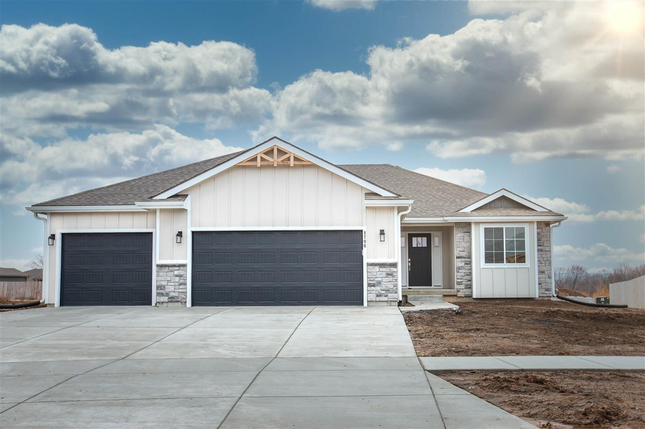 Show stopping 3BR, 2BA, ranch by Drippe Homes w/lowerLVL large familyRM finished, located in NEW Oliver Brown Elem School Dist. Fresh & on-trend styles w/abundance of upgrades & full partial-finished daylight bsmt, optional finish for +2BR(=5 total), +1BA(=3 total). The backyard, .3 acre lot, w/covered deck w/fan, walks-off from kitchen/dining/LvRm combo. Open floor plan & vaulted ceiling in main area displays floor-to-ceiling shiplap focal point w/linear recessed gas fireplace. MstrSuite features wood beam detail ceiling. MstrBA w/dual sink vanity, walk-in tile shower, enters into walk-in closet. Kitchen is stunning w/granite countertops, center eat-in island & ultra stylish backsplash, shaker style custom cabinetry, golden champagne hardware, modern lighting, farmhouse sink, StainlessGE appliances included. High quality details throughout, upgraded trim&door packages, LVT & ceramic floors. Insulated 3carGarage. Near Hwy24 & Pott County Lake. EnergyEfficient. Taxes Estimated for 2020.