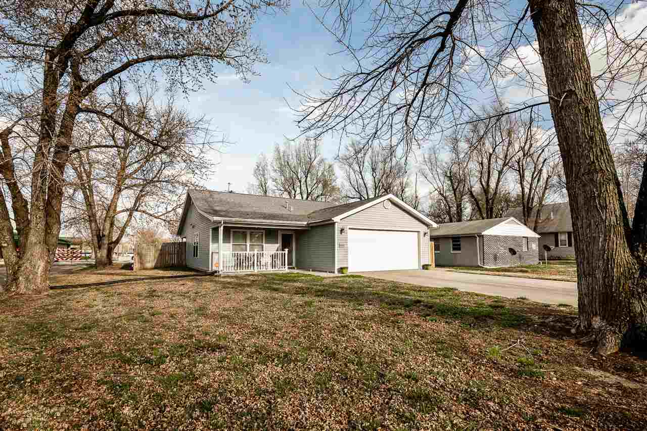 Adorable 3 bedroom, 2 bath home located on a corner lot.  This property features an open concept in the LR & DR with laminate floors. It includes a large master bedroom with private master bath plus two additional bedrooms and a full bath. Patio doors in the dining room lead out to a covered patio and large back yard with plenty of space for the kids and pets to run and play, it also features a 2 car garage.  For more information or personal showing contact Holly Beck at 785-410-7794. SUBJECT TO TENANTS RIGHTS UNTIL July 1, 2021.