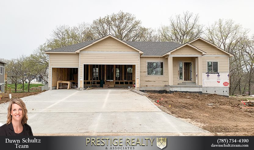 Beautiful NEW CONSTRUCTION home in the lovely Brookridge subdivision underway! This 3 bedroom, 2 bathroom home has an open concept with lots of natural light! The kitchen offers ample cabinet and counter space with stainless-steel appliances. The dining area walks out to the large deck overlooking the wooded lot. The master bedroom includes a walk-in closet and en suite bathroom. The unfinished walkout basement is great for additional storage or the possibility to finish out with 2 more bedrooms, a bathroom and family room. This property also includes an attached 3 car garage and is on a cul-de-sac! Contact Dawn Schultz with The Dawn Schultz Team for more information at 785-706-1426 or dawn.schultz@prestigerealtymhk.com!