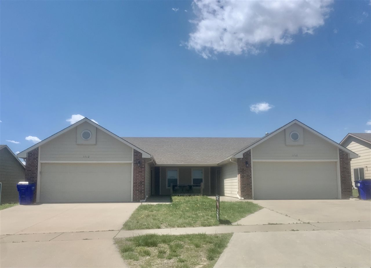 These spacious, low maintenance duplexes just hit the market in Junction City! Each side has 3 bedroom, 2 bath with 1152 sq ft of living space. 1710 Hickory is vacant & move-in ready. 1712 Hickory is rented thru June 30, 2021 for $950/mo. You'll love the open floor plan and vaulted ceiling in the living room. The master bedroom offers a master bath and walk-in closet. The laundry room and pantry is located just off the kitchen and 2 car attached garage. Spring Valley Elementary School is located within walking distance of this home. Call Darcy today to schedule an appointment to come see it! 785-209-1207!