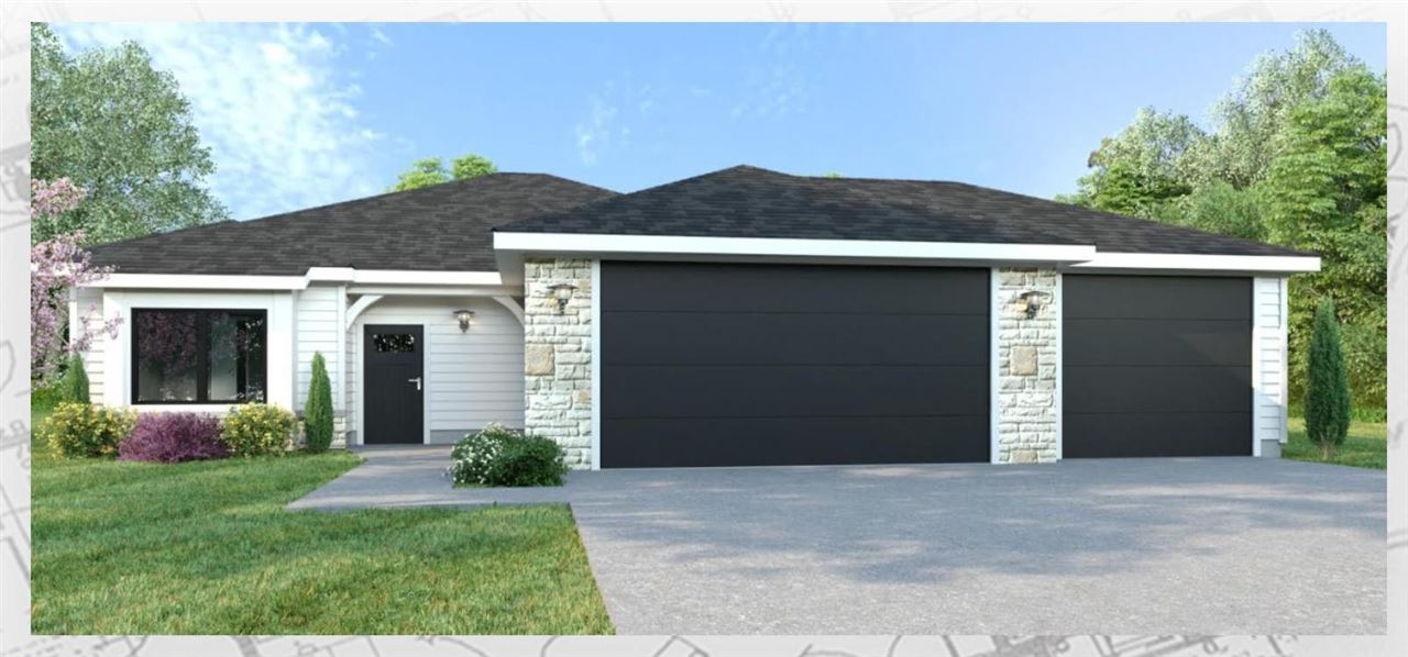 A RARE opportunity to purchase a NEW construction home in the NEWLY introduced phase of Scenic Meadows, situated on nearly a quarter acre with THREE CAR GARAGE on Manhattan's Westside w/ULTRA CONVENIENT location for QUICK commute to Ft. Riley. Curb appeal is outstanding w/stone accent & modern exterior details. Upscale finishes throughout, including floor-to-ceiling focal point w/electric linear fireplace & mantle in livingRM, vaulted ceiling, master suite ceiling w/shiplap detail (the signature of a Drippe Home), walk-in tile shower, Quartz countertops, two-tone custom cabinetry, farmhouse sink, stylish lighting, black-bronze hardware, & other inspiring features that come together to create an on-trend & fully-conceptualized interior design scheme paired with perfected floor plan created by experts from the Drippe Homes design team. Competitive taxes (compare to others) = saves $ monthly payment. Stainless Steel GE kitchen appliances included. Taxes est. for 2021. Completion est 10/15