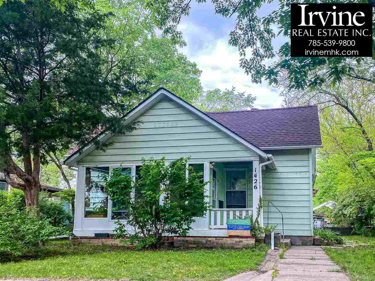 """Walk & Bike everywhere from this home! Inexpensive home that is well maintained. Walk to Long park and the downtown City Park.  September 1st possession preferred. Buy this home """"as-is"""" or add the cost of the basement repair to the list price and the funds will be escrowed for the repairs to be done just after closing.  Call Marlene Irvine for details 785-341-8576"""