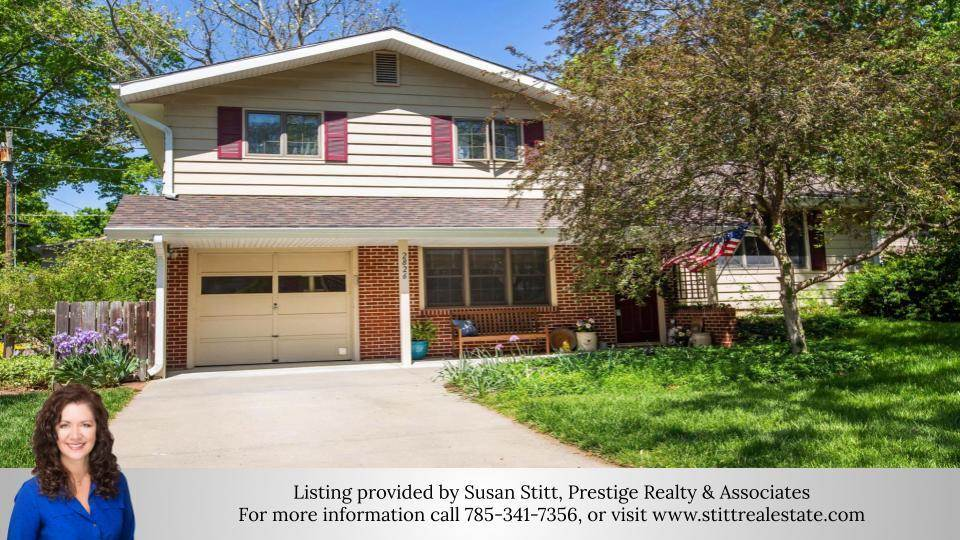 """Charming new State Street listing!  This home home features 3 bedrooms, an office, dining room, 3 living areas, and 1 1/2 baths with 2,806 tgsf.  Beautiful hardwood floors throughout, stainless steel appliances, gas oven/range, and Custom Woods cabinets.  This home has had all of the """"major"""" maintenance of an older home taken care of to include a new sewer line (2015), new furnace (2017), new roof with impact resistant shingles (2019), new radon mitigation system, all new updated electrical panel breaker boxes (inside and outside), an expanded sprinkler system, new microwave, new engineered hardwoods on lower level living room, and a new stained and sealed back deck.  Enjoy entertaining on the deck and gardening in the fenced in back yard.  Call Susan Stitt, 785-341-7356, to view this property."""