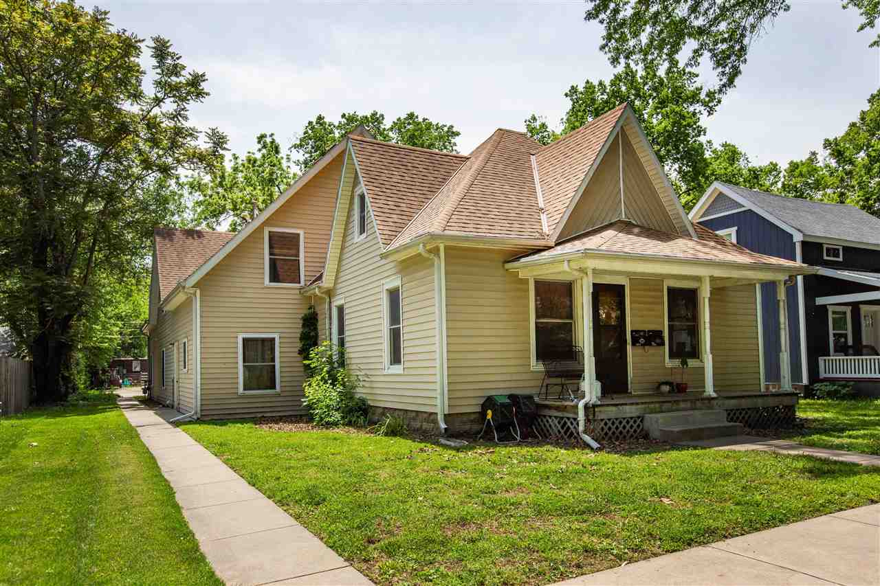 Wonderful Investment Opportunity! Centrally located near Campus, Downtown, Aggieville and Bluemont Elementary. This property is tenant occupied and both units are leased through 7/27/22. Currently rents for $2150 both sides but has a history of higher. Excellent layout with 4 bedrooms/2 baths/laundry in each unit. Pre-inspections have been completed and are available in lieu of a seller's disclosure. Off street parking is available in the rear of the property. Contact Kim Strawn for a private tour 785-341-4224. 24 hours notice for showings is required. Virtual tour is of Unit A only. See floor plans for both units in photos.