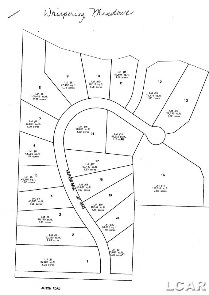 15 Kappler Dr, Norvell Twp, Michigan 49263, ,Vacant Land / LCAR,For Sale,Kappler Dr,31372575