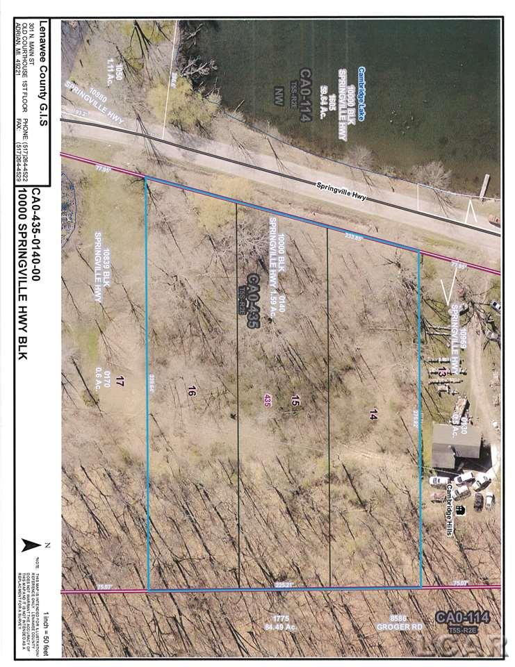 10000 Blk Springville Hwy, Onsted, Michigan 49230, ,Vacant Land / LCAR,For Sale,Springville Hwy,31381334