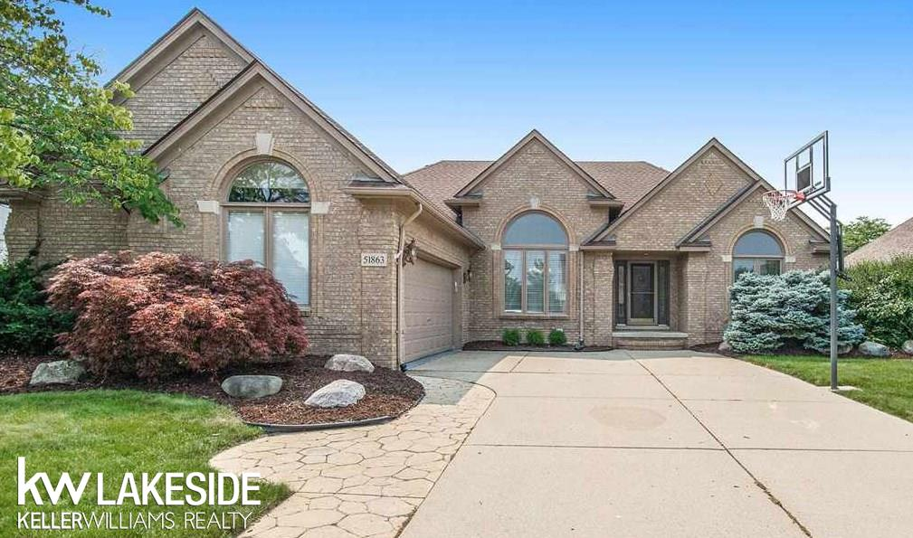 **OPEN HOUSE Saturday 07/24/21 from 1:00pm-4:00pm** Finally, a great house at an affordable price hitting the market in the heart of Macomb Township. This beautiful 3 bedroom and 3 full bath split layout ranch is gorgeous inside. The great room leads directly into the formal dining area which is the perfect space to entertain guests - truly an open concept. You will also love sitting out back on the stamped concrete patio and enjoying the Michigan summer nights. The basement is partially finished and just needs some final touches. Newer furnace, A/C, and roof in the last few years!  Award winning Chippewa Valley Schools (Sequoyah, Iroquois, Dakota).