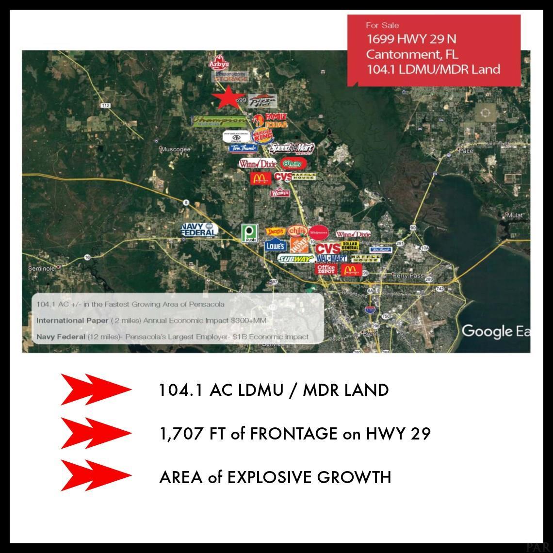 1699 N HWY 29, CANTONMENT, FL 32533