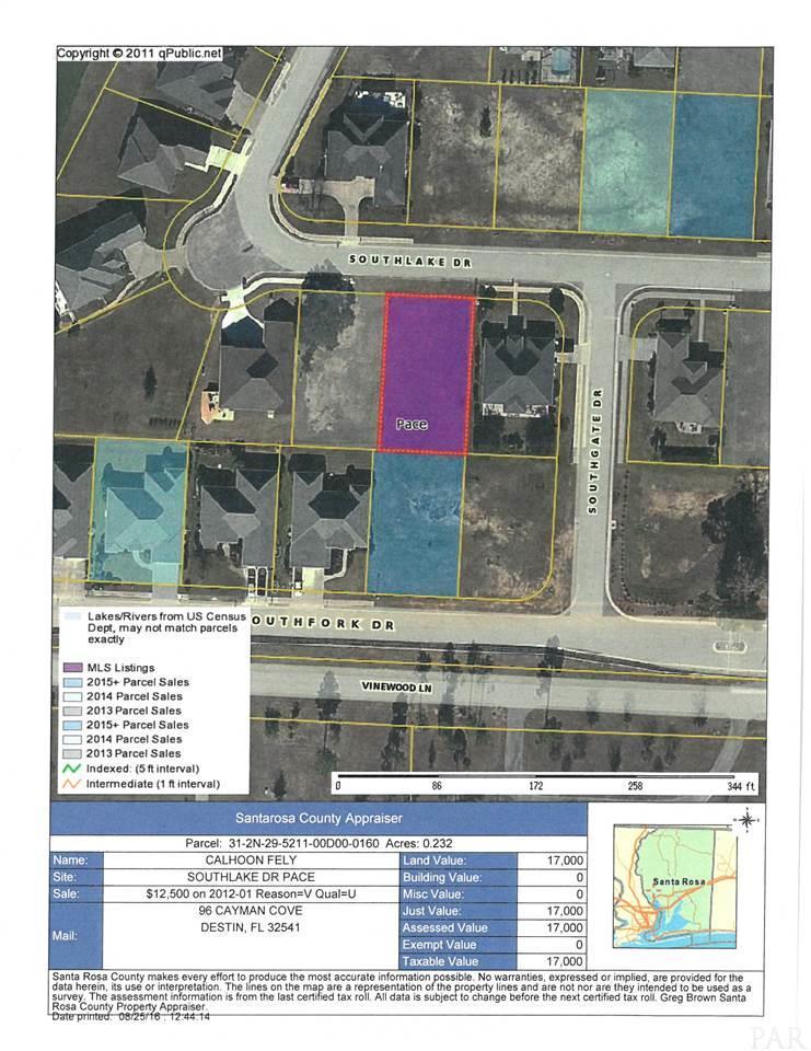 Lot 16 Southlake Dr, Pace, FL 32571