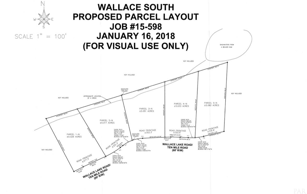 Lot 3-N & 4-N Wallace Lake Rd, Pace, FL 32571