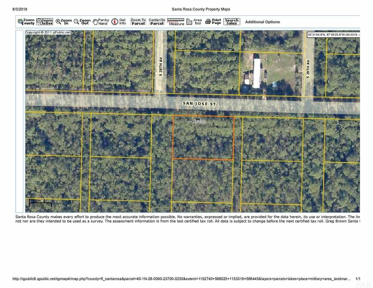 Lot 23blk 237 San Jose, Milton, FL 32583