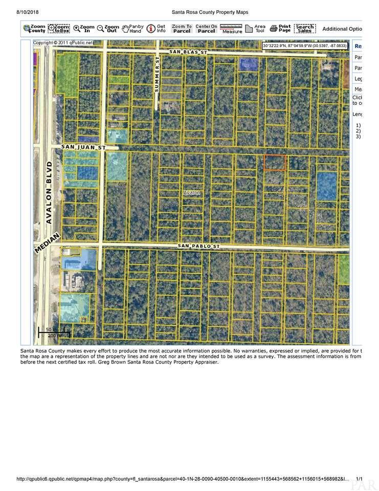 Lot 1 Blk 405 San Juan St, Milton, FL 32583