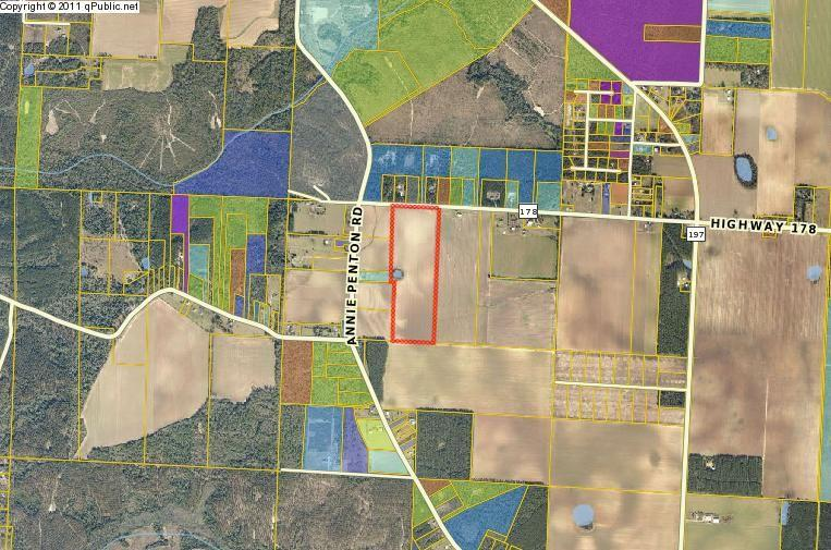 Approx. 53 acres -(52.96 Acres) in Allentown District off Chumuckla Hwy (Hwy 197) on Hwy 178 West (New York St) Vacant agricultural land near Chumuckla Sports Complex. Just off Chumuckla Hey on Hwy 178 this 53 acre +-. Development Tract or  farm and ranch property offers easy highway access and is only about 18 minutes North of Milton and NAS Whiting Field. Could be great new residential neighborhood with County approval or ideal Farm and Ranch. Minutes from Chumuckla Sports Center and area schools, Near community fall festivals and holiday parades.
