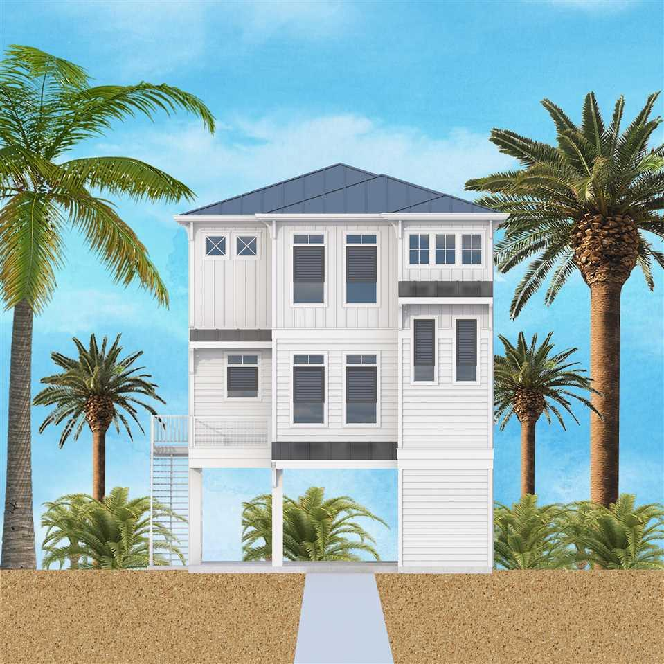 **WATERFRONT DUPLEX** This upscale home will be built on the pristine sound side of Pensacola Beach! Five Bedrooms and Five Baths – room for everyone! First floor is perfect for entertaining. The Grand Room offers unparalleled views of the Sound from inside or from the 29 x 8 porch. The Grand room is open to the kitchen/dining area. The kitchen is well appointed with stainless steel appliances, island, plenty of counter-top space and pantry. The first floor also has a full guest suite with bathroom. The second floor contains 3 additional bedrooms, all with private baths. The master is located on the second floor with stunning water views with private porch. Low maintenance exterior - Hardi Board siding, fully fenced yard. Take in magnificent sunsets and water views from the boat slip, pier and gunite pool. Call today and own your own piece of paradise!