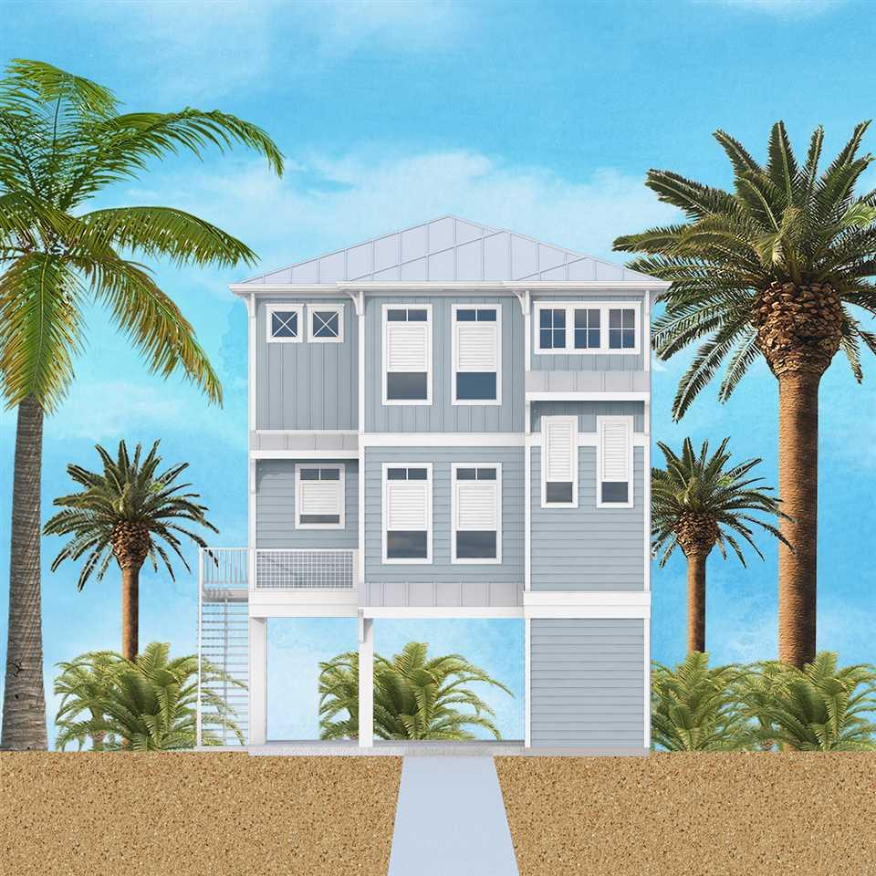 **WATERFRONT HOME** This upscale home will be built on the pristine sound side of Pensacola Beach! Five Bedrooms and Five Baths – room for everyone! First floor is perfect for entertaining. The Grand Room offers unparalleled views of the Sound from inside or from the 29 x 8 porch. The Grand room is open to the kitchen/dining area. The kitchen is well appointed with stainless steel appliances, island, plenty of counter-top space and pantry. The first floor also has a full guest suite with bathroom. The second floor contains 3 additional bedroom all with private baths. The master is located on the second floor with stunning water views with private porch. Low maintenance exterior - Hardi Board siding, fully fenced yard. Take in magnificent sunsets and water views from the boat slip, pier and gunite pool. Call today and own your own piece of paradise!