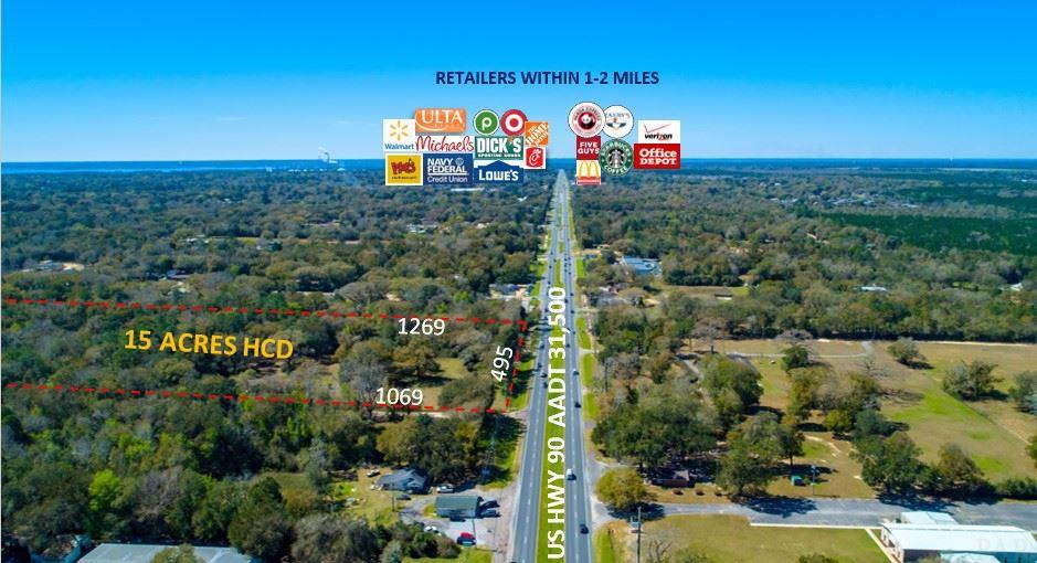 Priced to Sell, Major Development Opportunity.  Total of 15 acres right as you enter the highly sought after Pea Ridge area of Pace/Milton.  AADT of 31,500 and National Retailers located just a half a mile West of this location.  1.2 miles to Avalon Blvd and 6 miles to I-10