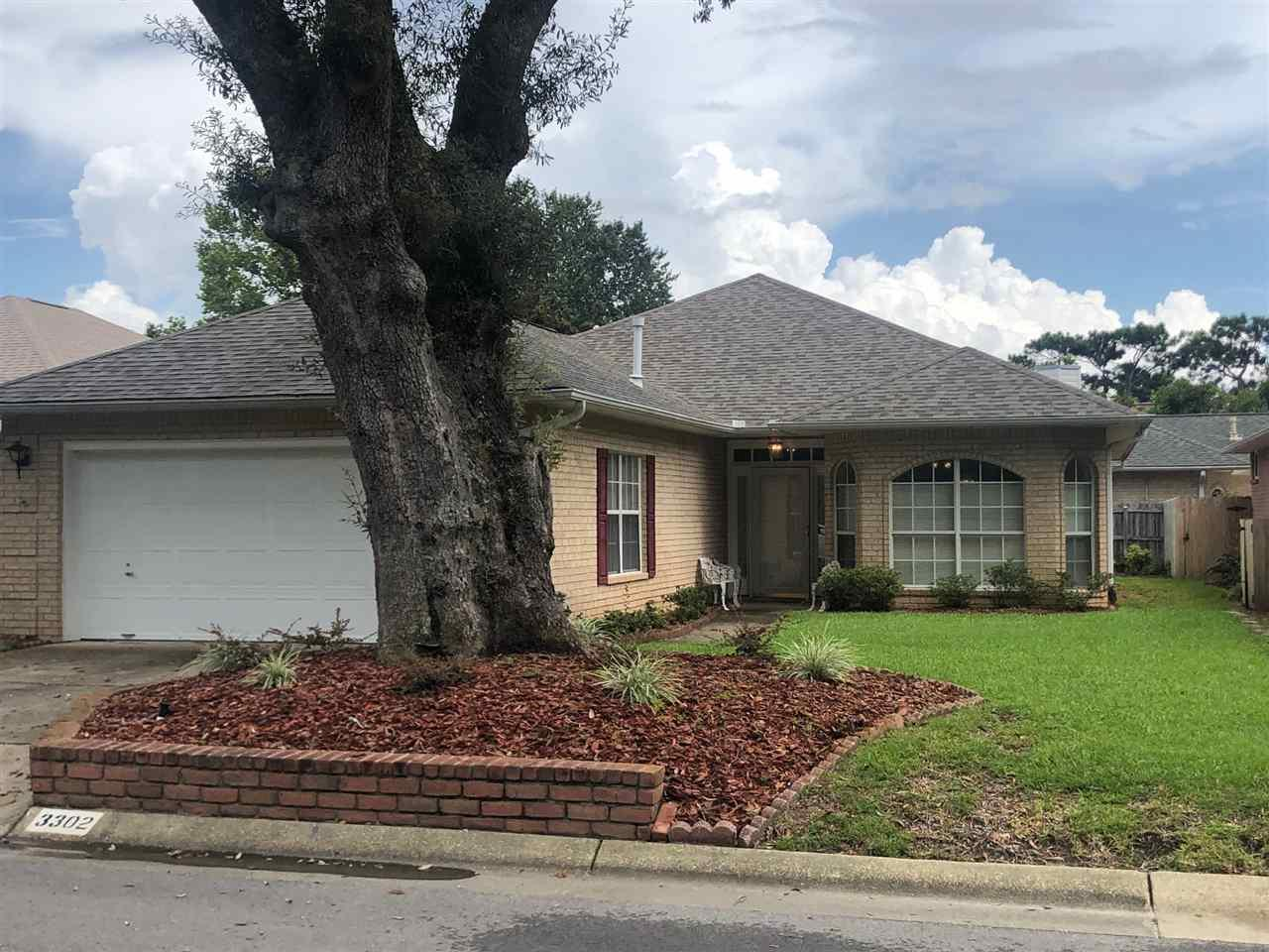 This is a wonderful small cul-de-sac neighborhood with very little traffic and only 8 homes.  This one owner brick patio home is well maintained and gently used.  The private master suite has a large full bath, two walk in closets, double vanities, separate shower and nice whirlpool garden tub.  The other two rooms share a full bath and nice separation by living area/kitchen from the master suite. The living area has crown molding and baseboards throughout.  The kitchen is open to the living/dining area and has nice bay window for the kitchen table.  The living room has natural light and a sliding door leading to a nice covered patio.  The back fence is a new wooden privacy fence.  The yard is small and manageable with plenty of room for raised bed garden.  A new dimensional roof was installed 2017 by Charlie Sapp Roofing.  A new A/C was installed in 2011 as well as new Amercian Standard 2.5 ton heat pump.  The stove is a 2014 Kenmore.  (All appliances are Kenmore). The home will be professionally cleaned and in move-in ready condition for the next happy owner! There is a termite bond on the home and will be professionally cleaned and move in ready!
