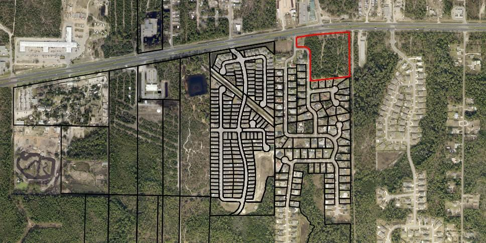 Great location for almost any commercial/multi-family high density development. 7.64 acres of vacant commercial land that's high and dry.   Land Code 001020; Description Commercial Highway; Zoning PBD; Unit Type FF. Source: Santa Rosa County Property Appraiser