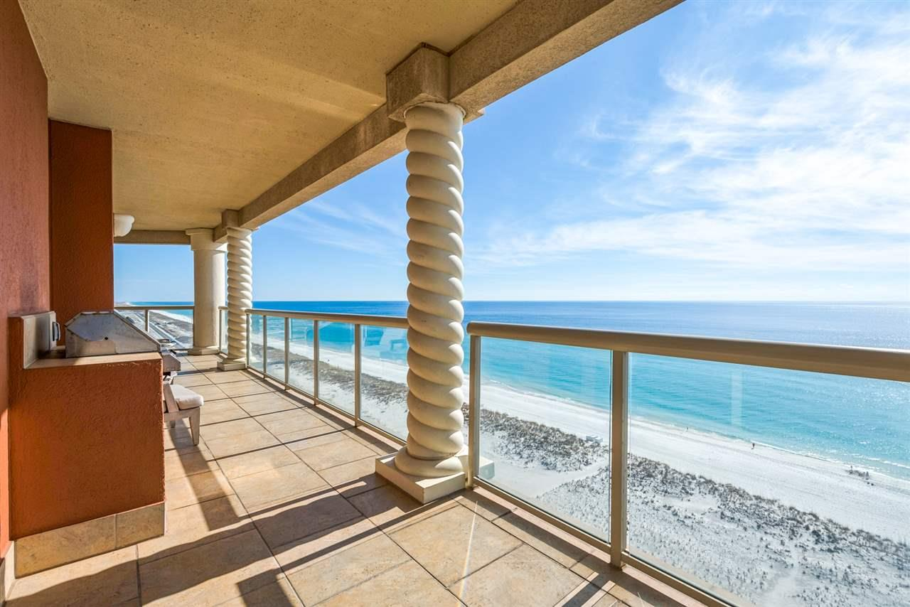 Gulf View Portofino, Tower 3, the most popular tower!  Nearest to the cross walk directly to the Gulf of Mexico.  With floor to ceiling doors and windows, enjoy unobstructed views of the Gulf of Mexico, the Intracoastal Waterway, and Pensacola Beach from your 15th floor home.  Designer decorated and offered furnished, excluding a few personal items.  Current owners have installed an under counter Ice Maker, never wait for those ice cubes to freeze again! Portofino offers two outdoor infinity pools with hot tubs, and an indoor Olympic size pool. Inside the Spa & Lifestyle Center, take advantage of full spa services, shop the Mini-Market and Gift Shop, or dine at the newly renovated Coastal restaurant.  There are 5 clay tennis courts onsite, the world class fitness center overlooks the pool area and Intracoastal Waterway.  Two covered reserved parking spaces and a storage locker are included.