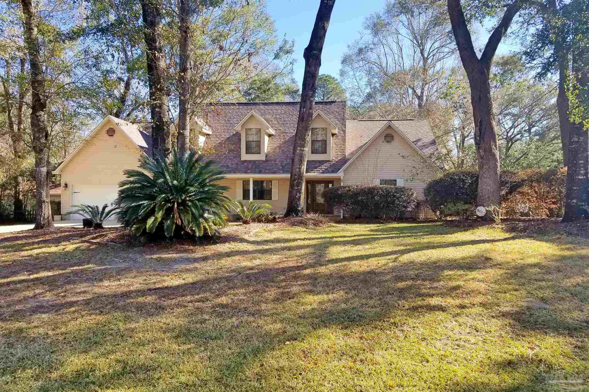 "This Estate Sized Property (approx 1.12 acre) is located along a creek and wooded area that can never be built on! This end of Sonya St is quiet and one of the communities most desired locations. Sales there are rare with very low turnover! Woodbine Springs is our areas only true ""PRIVATE"" Lake Community with great fishing, kayaking and non-motorized boating.  An Extremely well maintained home has been prepared for its new owner, is nicely landscaped with a detached 15x22 Up Scale Man Cave/Storage Building. Supersized Kitchen and large family room, offer a great opportunity for a growing family! Hardwood Floors and or Ceramic in most main areas, and the Master, and Brand New Carpet Upstairs. The  garage has an additional work area, to match one of the largest Laundry rooms you'll ever find in a home in this area.  Are you looking for storage; 2 separate areas accessed through a real door, will exceed your expectations.  There are dual HVAC systems for up and downstairs, all replaced in 2016. This property rests on 2 separate lots that are being being sold as a package deal only!"