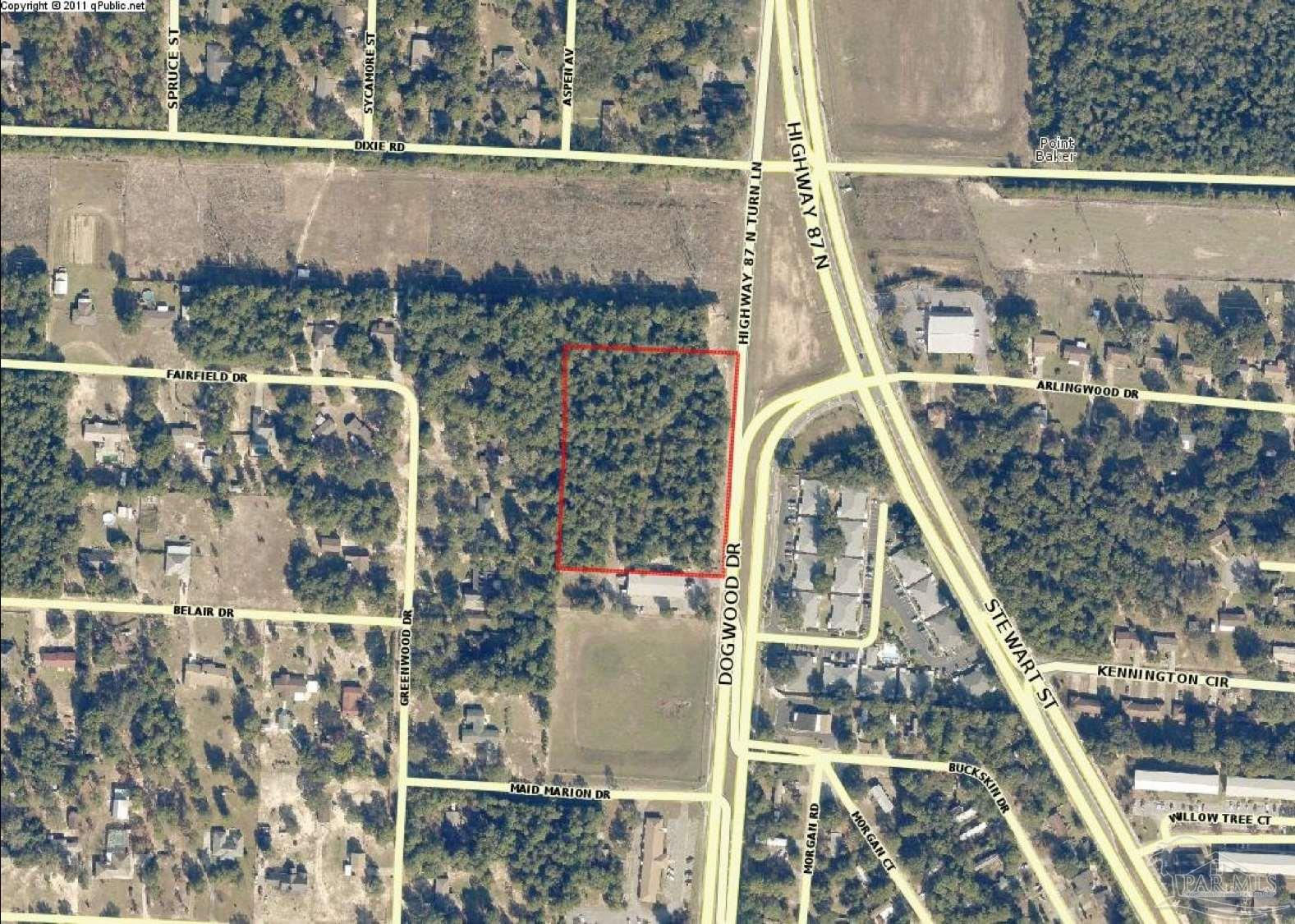 *Owner will subdivide into separate lots** Prime Hwy 87 acreage available in Milton, Florida. There is a total of +/- 4.3 acres of commercial land available and the owner would consider subdividing the property into 5 separate lots. The 4.3 acres is available for $275,000 or the individual lots can be purchased for $59,500/lot. The site has a total of 500 feet of frontage on Hwy 87 and +/- 370'-380' deep. The commercial acreage would be the ideal location for a restaurant, retail, or local business with it's excellent visibility and being within close proximity to the NAS Whiting Field military base, downtown Milton, and Pace.