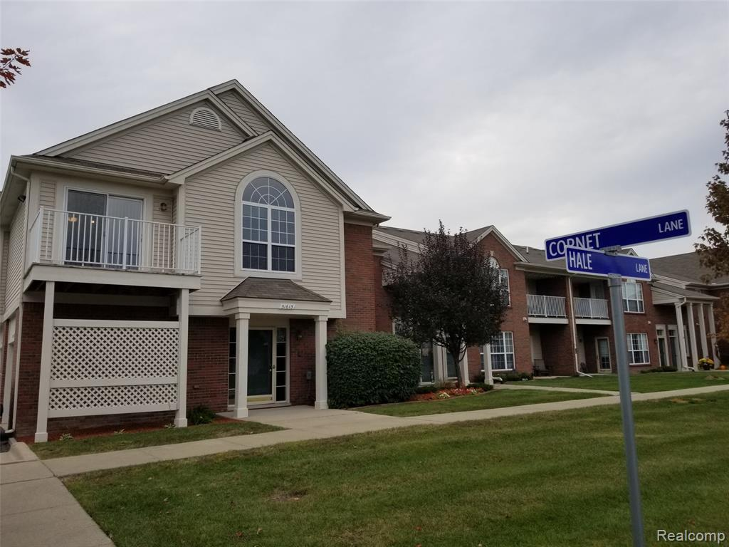 End unit upper level condo. This condo features 2 spacious bedroom, 2 full baths. A master bedroom with cathedral ceilings, a large walk in closet and attached full bath. A large living room also includes cathedral ceilings, attached to a dining area and kitchen. Walkout of your dining area onto your balcony and overlook some beautiful grounds. You also will have you own private same floor laundry. Attached oversized one car garage with an additional storage room.