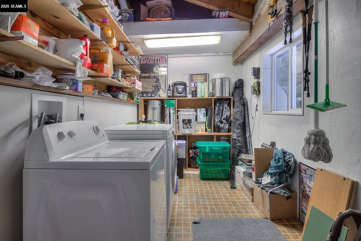 Washer and Dryer included. Plenty of storage area and shelving.
